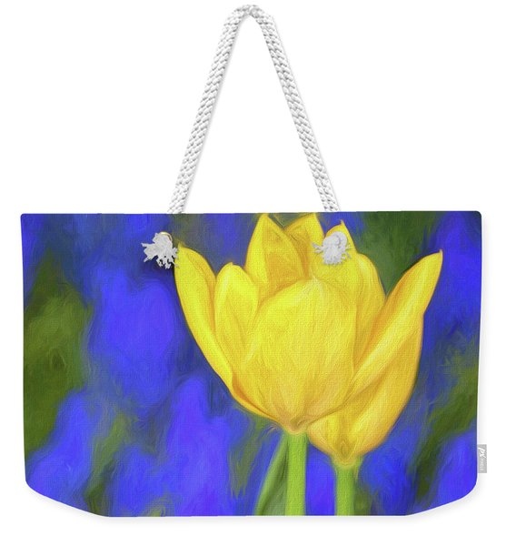 Springtime Yellow Tulips Painterly  Weekender Tote Bag