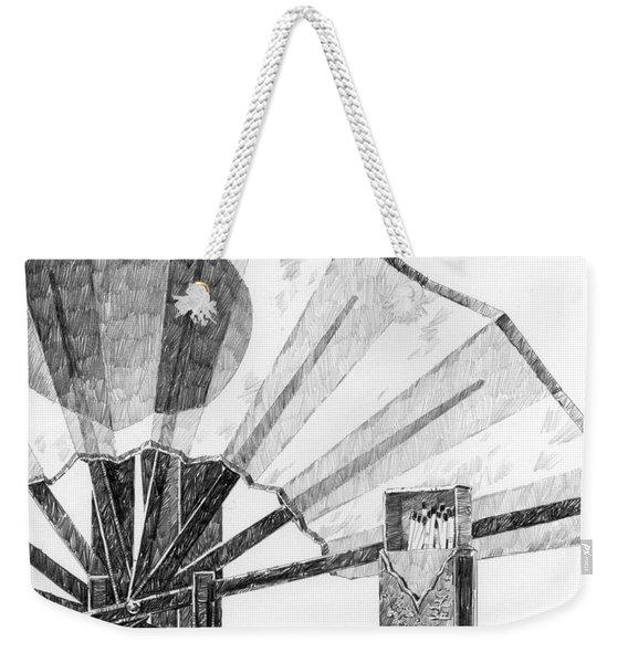 Spirit Of Japan. Fan And Matchbox Weekender Tote Bag