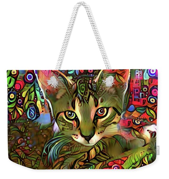 Sprocket The Tabby Kitten Weekender Tote Bag