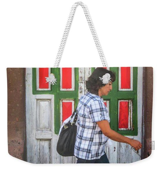 Square Design Weekender Tote Bag