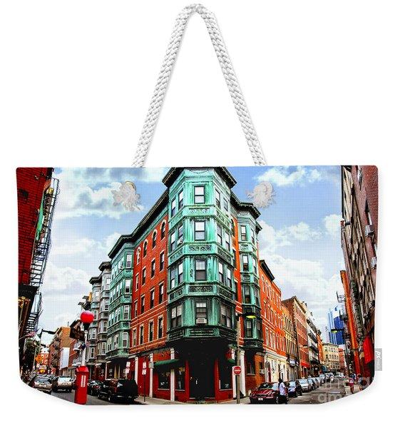 Square In Old Boston Weekender Tote Bag