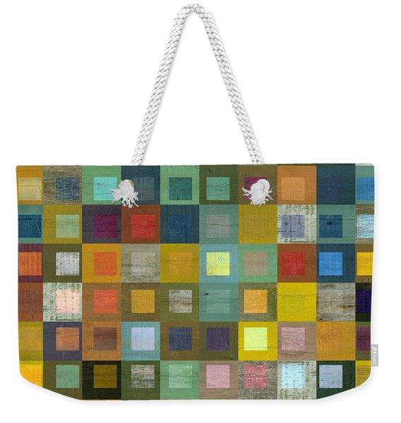 Squares In Squares Five Weekender Tote Bag