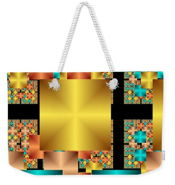 Squares Weekender Tote Bag