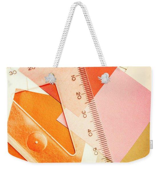 Squaring A Triangular Rule Weekender Tote Bag