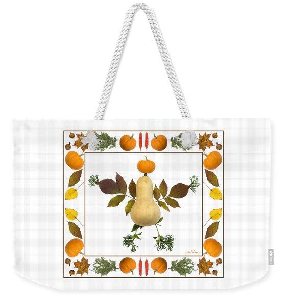 Squash With Pumpkin Head Weekender Tote Bag