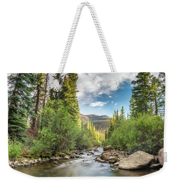 Squaw Creek, Colorado Weekender Tote Bag