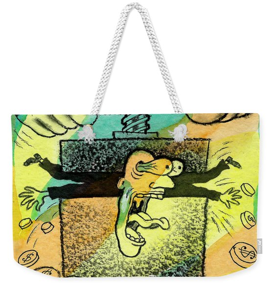 Squeezing The Tax Weekender Tote Bag