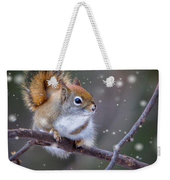 Squirrel Balancing Act Weekender Tote Bag