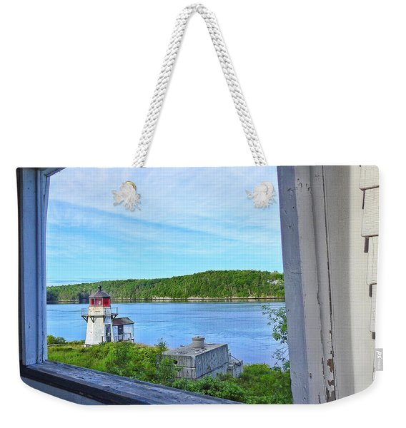 Squirrel Point View From The Deck Weekender Tote Bag