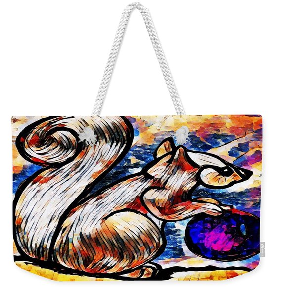 Squirrel With Christmas Ornament Weekender Tote Bag