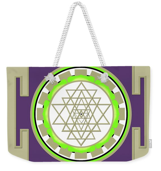 Sri Yantra Of Prosperity Weekender Tote Bag