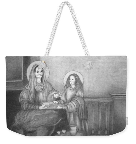 St. Anne And Bvm Weekender Tote Bag