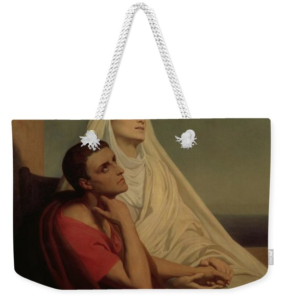 St Augustine And His Mother St Monica Weekender Tote Bag