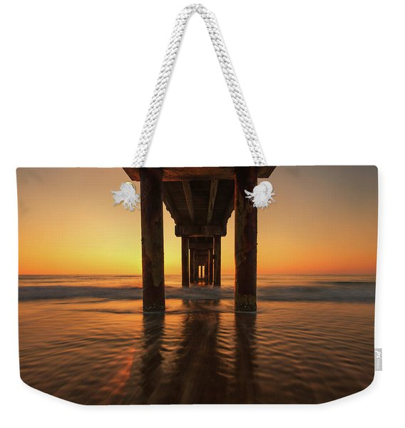 St Augustine Beach Pier Morning Light Weekender Tote Bag