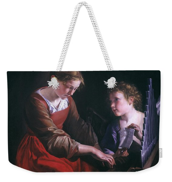 St. Cecilia And An Angel Weekender Tote Bag