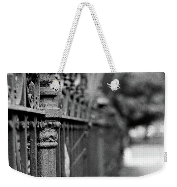St. Charles Ave Wrought Iron Fence Weekender Tote Bag