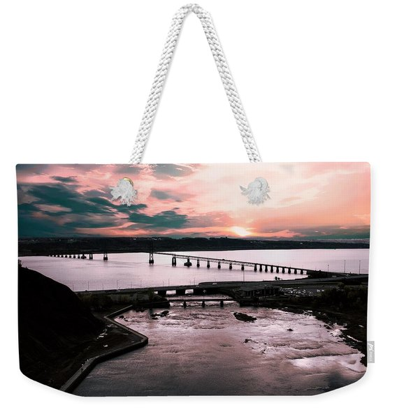 St. Lawrence Sunset Weekender Tote Bag