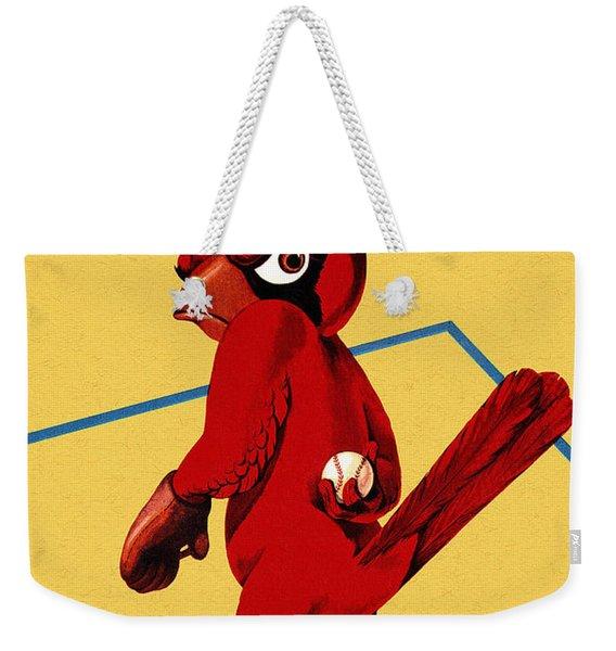 St. Louis Cardinals Vintage 1956 Program Weekender Tote Bag