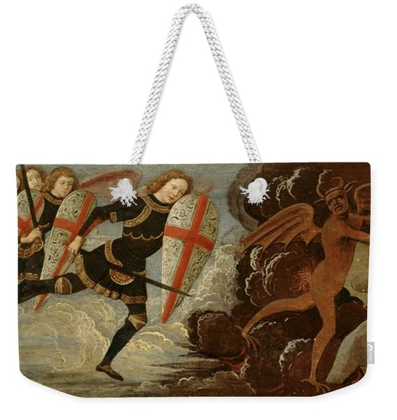 St. Michael And The Angels At War With The Devil Weekender Tote Bag