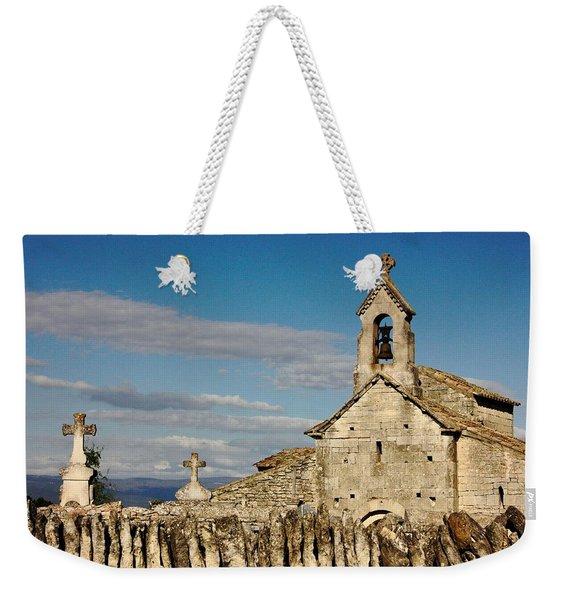 St. Pantaleon Church,  Luberon, France Weekender Tote Bag