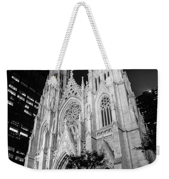 St Patrick Cathedral Black And White  Weekender Tote Bag
