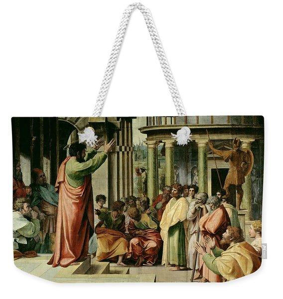 St. Paul Preaching At Athens  Weekender Tote Bag