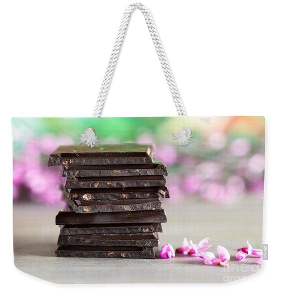 Stack Of Chocolate Weekender Tote Bag