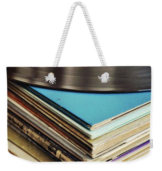 Stack Of Records Weekender Tote Bag