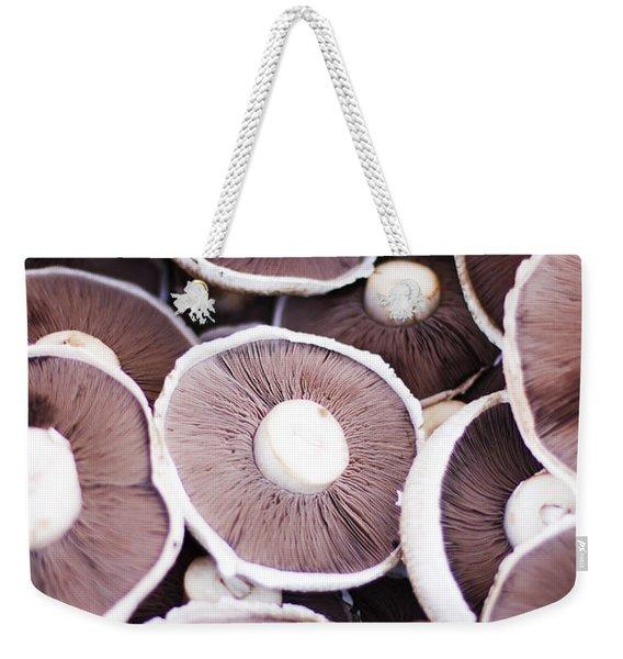 Stacked Mushrooms Weekender Tote Bag
