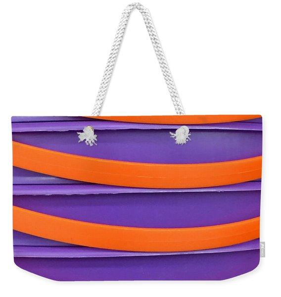 Stacked Weekender Tote Bag