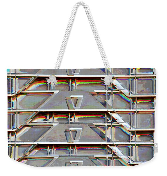 Stacked Storage Crates Abstract Weekender Tote Bag