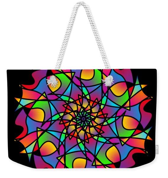 Stained Glass Mandala Weekender Tote Bag