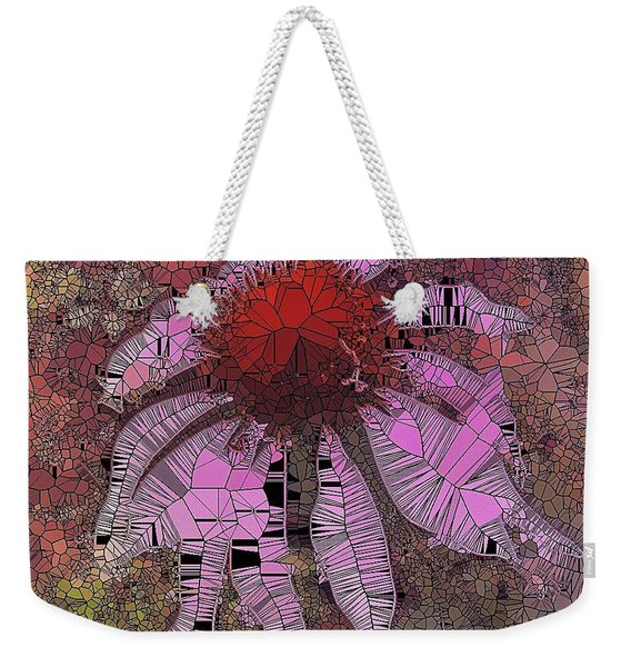 Stainglass Cone Flower Weekender Tote Bag