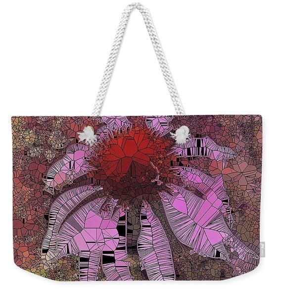 Stainglass Cone Flower Weekender Tote Bag