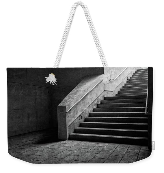 Staircase Into Light Bw Parking Structure Weekender Tote Bag