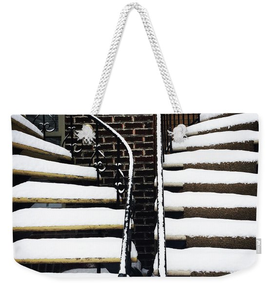 Staircases Covered By Snow Weekender Tote Bag