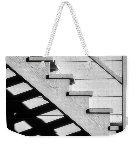 Stairs In Black And White Weekender Tote Bag