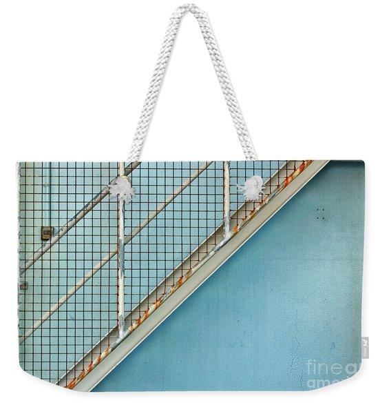 Stairs On Blue Wall Weekender Tote Bag