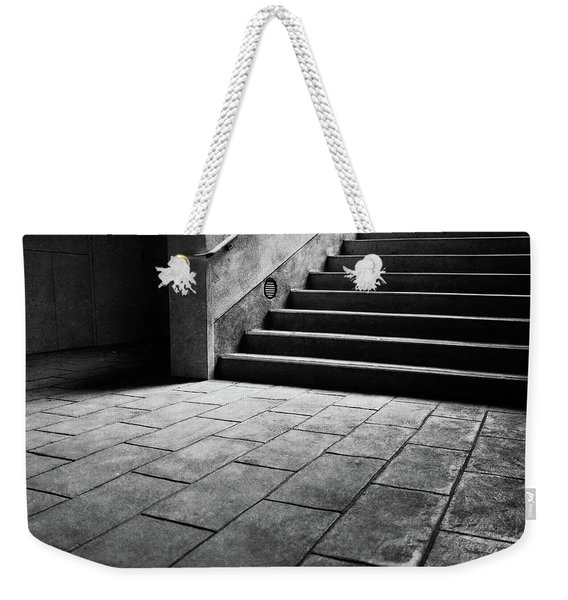 Stairs To The Top Bw Parking Structure Weekender Tote Bag