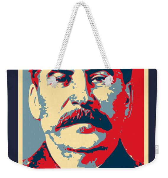 Stalin Propaganda Poster Pop Art Weekender Tote Bag