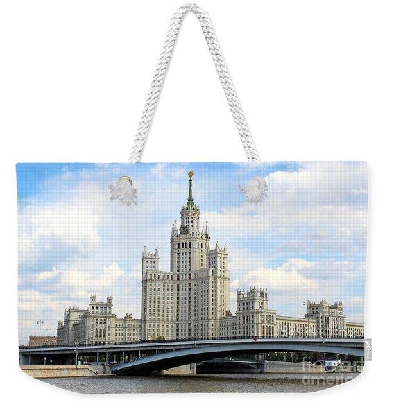 Kotelnicheskaya Embankment Building Weekender Tote Bag