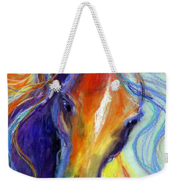 Stallion Horse Painting Weekender Tote Bag