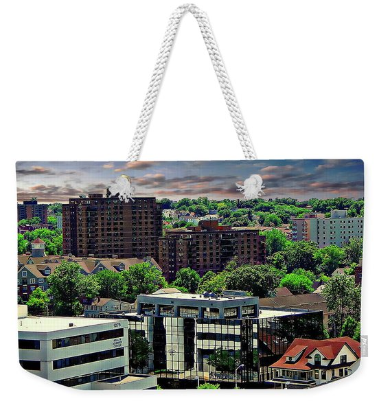 Stamford Cityscape Weekender Tote Bag