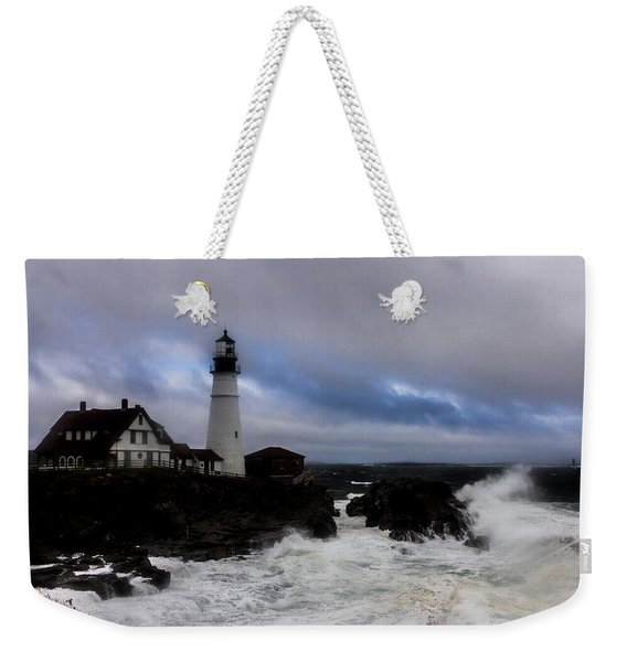 Standing In The Storm Weekender Tote Bag