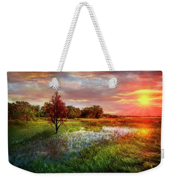 Standing Tall At Sunset Weekender Tote Bag