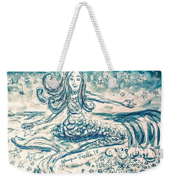 Star Bearer Mermaid Weekender Tote Bag