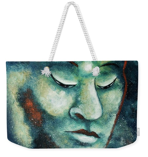 Star Buddha Of Teal Tranquility Weekender Tote Bag