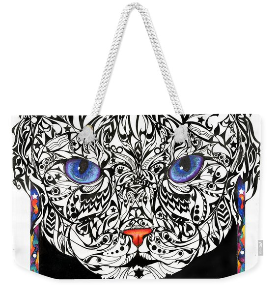 Star Cat Weekender Tote Bag