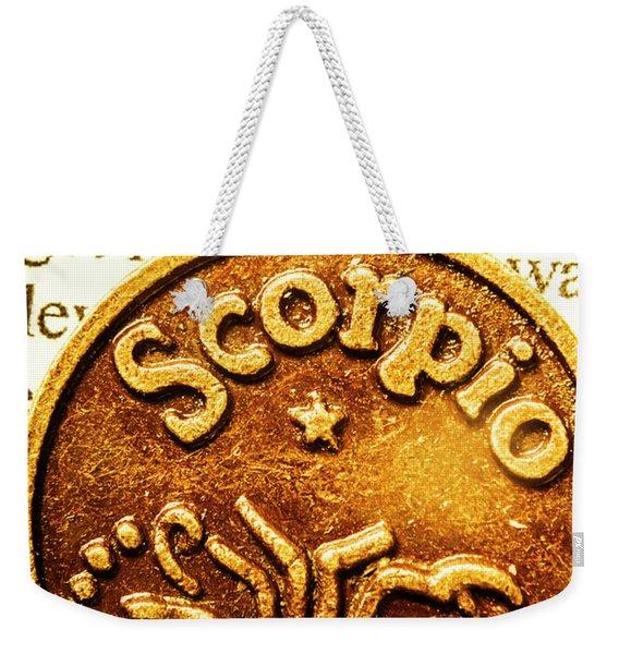 Star Sign In Scorpio Weekender Tote Bag