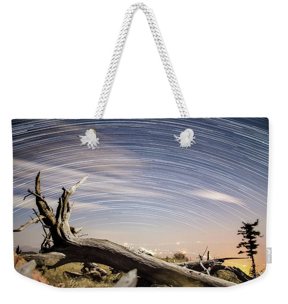Star Trails By Fort Grant Weekender Tote Bag